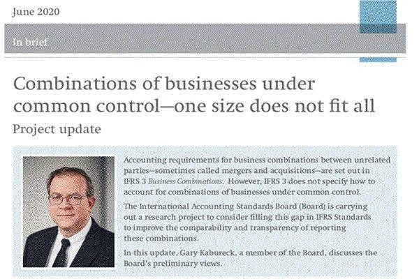 Combinations of Businesses under Common Control (IFRSF)