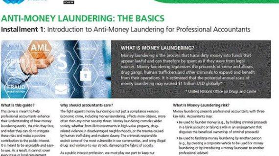 ANTI-MONEY LAUNDERING :  THE BASICS